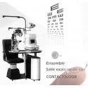 Ensemble salle d'examen de vue CONTACTO pour opticien