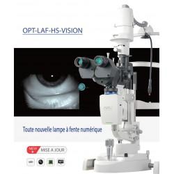 Lampe à fente biomicroscope à focalisation motorisée sortie HDMI