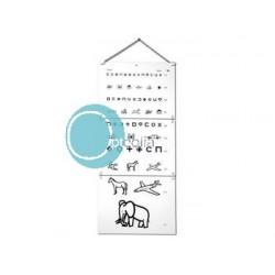 Echelle optométrique murale pour enfants