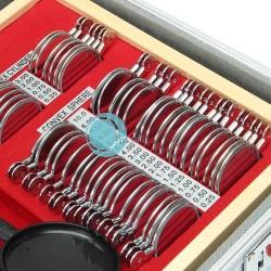 valise verres d'essai 104 pièces cercle métal valise alu